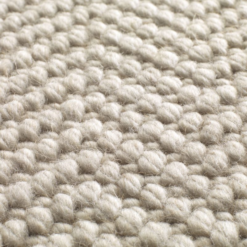 Natural Weave Herringbone Machine Made Texture Pure Wool